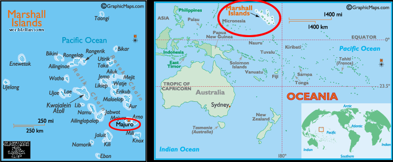 Majuro Marshall Islands - Marshall islands map